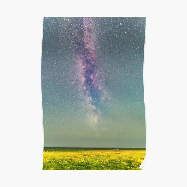 Milkyway in rural Iceland Poster