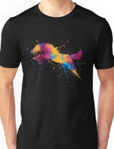Colorful Jumping Horse Splatter paint Art Unisex T-Shirt