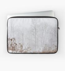 Winter storm on the mountain Laptop Sleeve