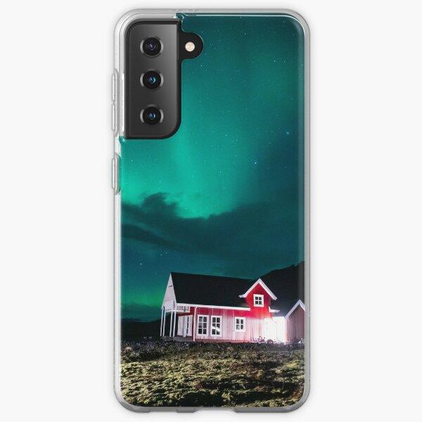 Farm house with aurora Samsung Galaxy Soft Case