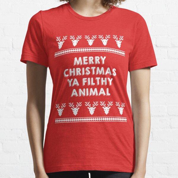 Merry Christmas You Filthy Animal Langarmshirt