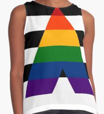 Solid LGBT Ally Flag Contrast Tank