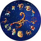 Scorpio Clock Star Signs Horoscope by Gotcha29