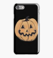 orange jack-o-lantern iPhone Case/Skin