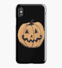 orange jack-o-lantern iPhone Case/Skin