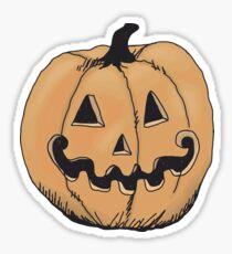 orange jack-o-lantern Sticker