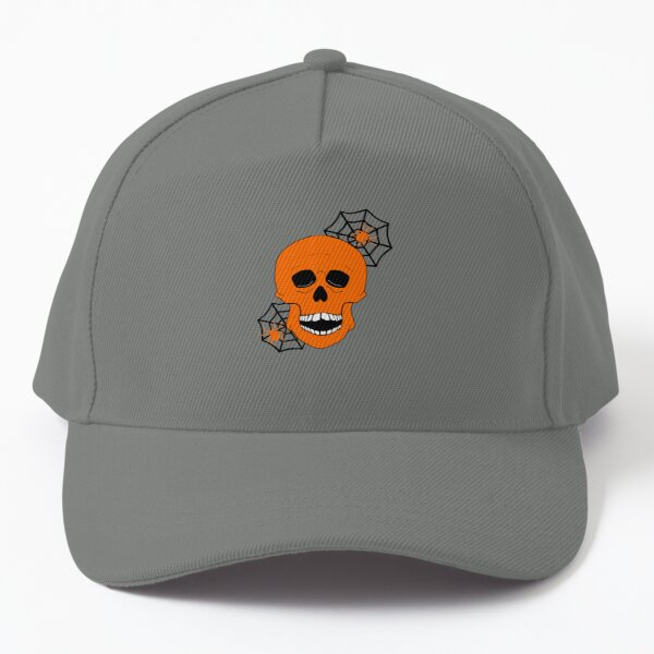 Halloween Skull And Spiders Baseball Cap