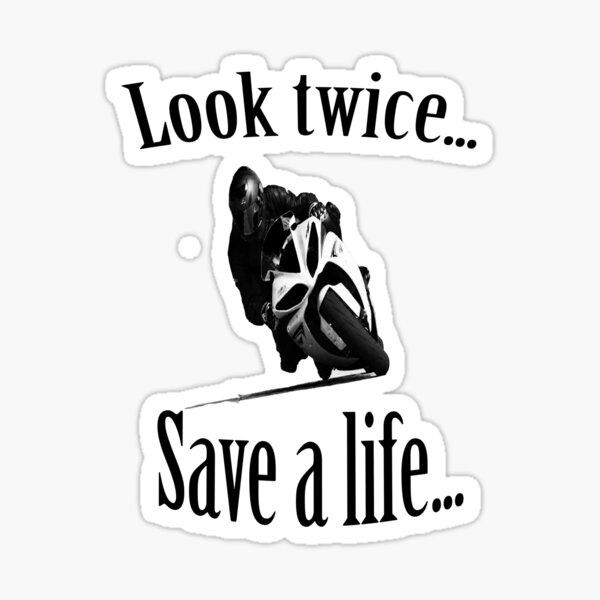 Regardez deux fois ... Sauvez une vie ... Sticker