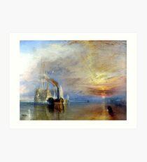 Le Dernier Voyage du Téméraire Turner Art Print