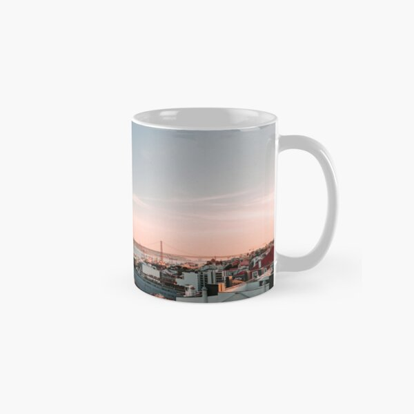 Lisbon rooftop view during sunset Classic Mug