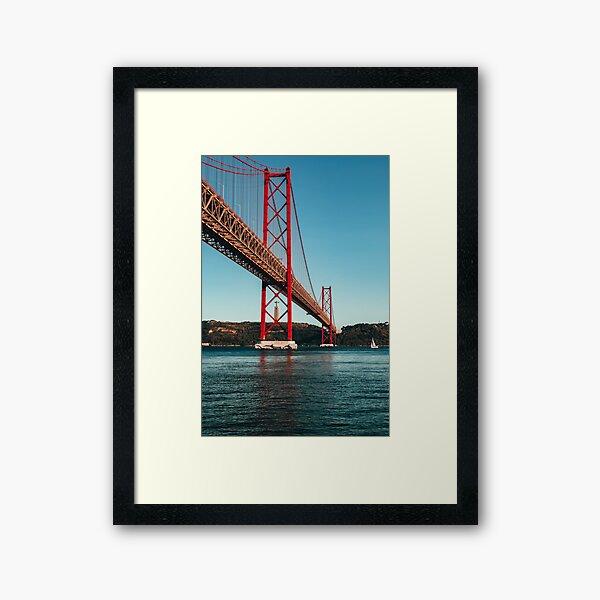 Lisbon 25 of April bridge Framed Art Print