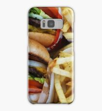 All American Cheeseburgers And Fries Samsung Galaxy Case/Skin