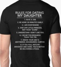 Rules For Dating My Daughter, Gift from Daddy Unisex T-Shirt