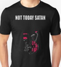 not today satan air assault bike crossfit shirt Unisex T-Shirt