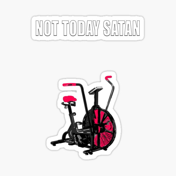 pas aujourd'hui satan air assault vélo crossfit chemise Sticker