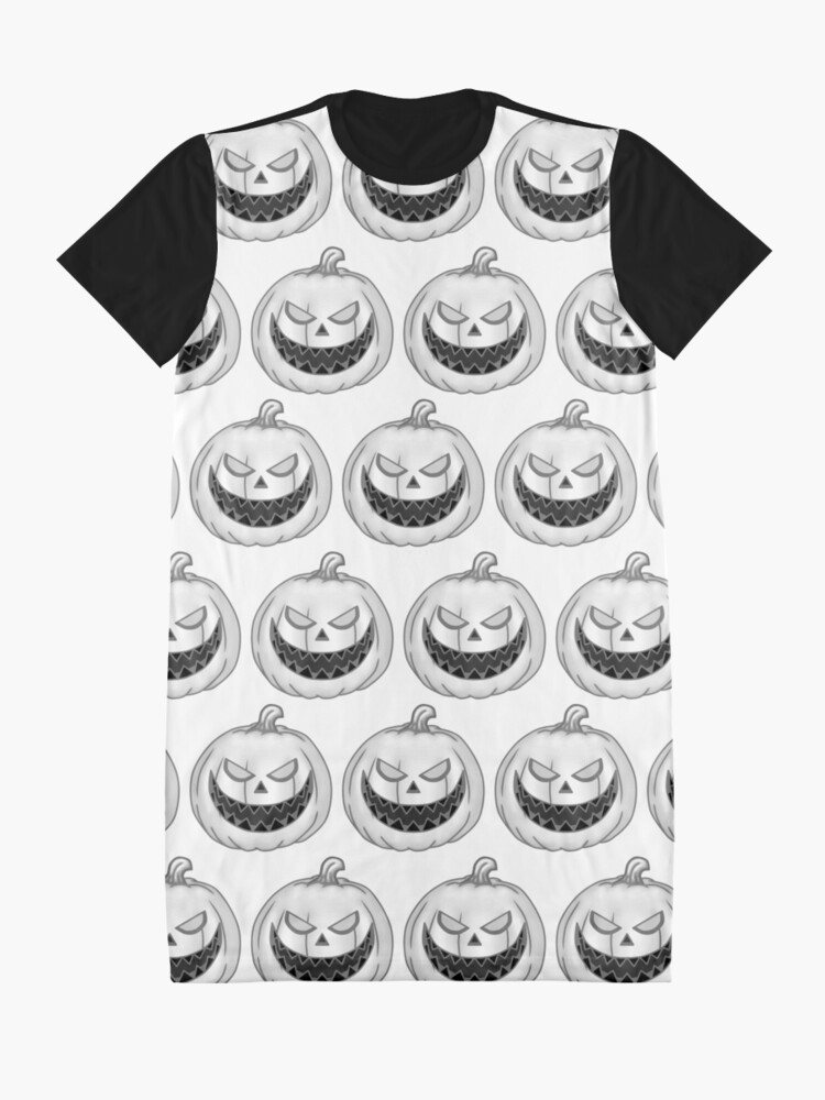 Alternate view of White Pumpkins  Graphic T-Shirt Dress