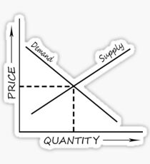 Supply and demand graph Sticker