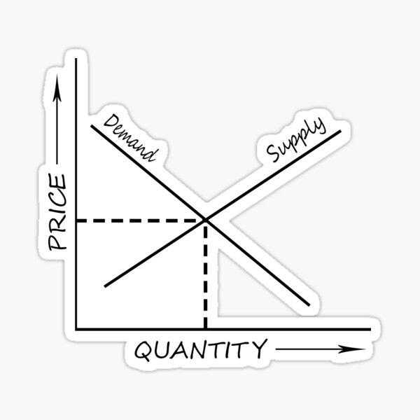 Supply and demand graph Sticker