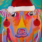 Christmas Cow by TraceyMackieArt