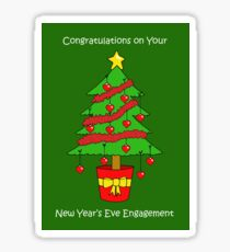 New Years Eve Engagement Sticker