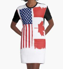 American Canadian Graphic T-Shirt Dress