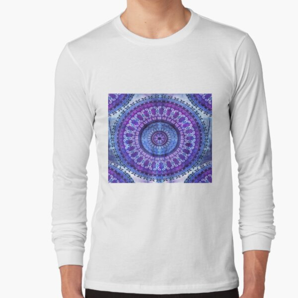 Hydrengea Mandala Long Sleeve T-Shirt