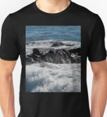 Black Rock and Blue Ocean Unisex T-Shirt