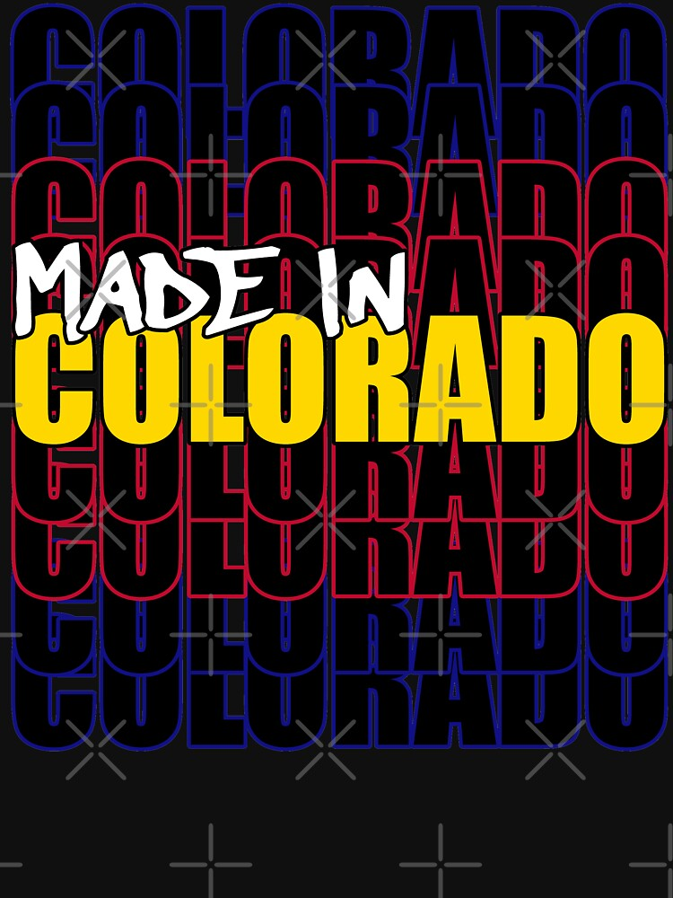 Made In Colorado State Flag Typography by that5280lady