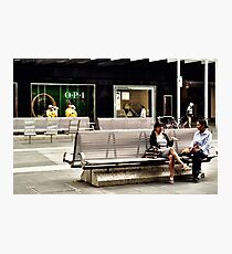 art of conversation Photographic Print
