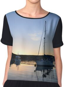 Tranquil Anchorage Chiffon Top