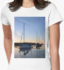 Tranquil Anchorage Womens Fitted T-Shirt