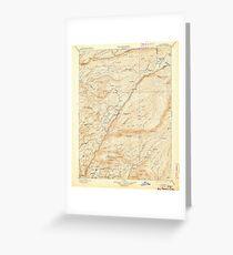 USGS TOPO Map California CA Big Trees 299218 1901 125000 geo Greeting Card