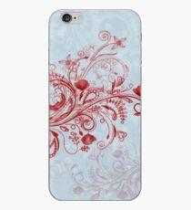 Blue-red swirl iPhone Case