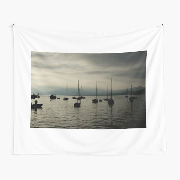 Moody sunset in Italy photography Tapestry