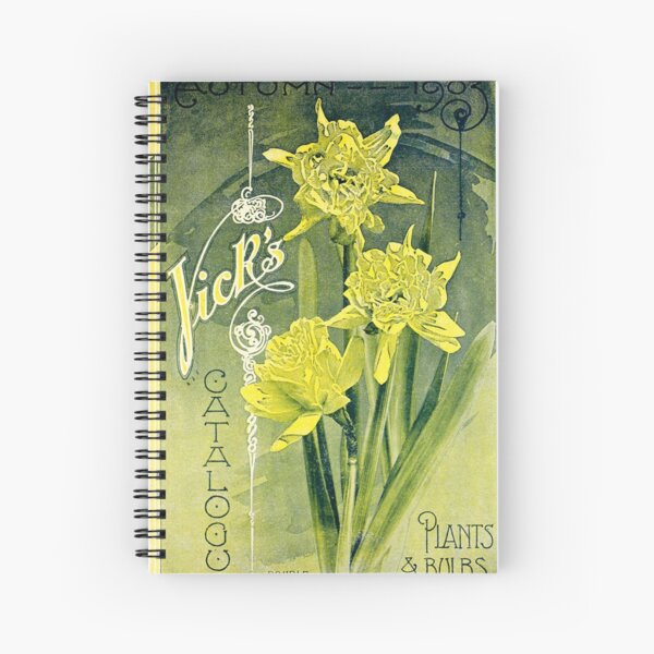 Vintage Seed Catalog Cover - VIck's 1903 Spiral Notebook