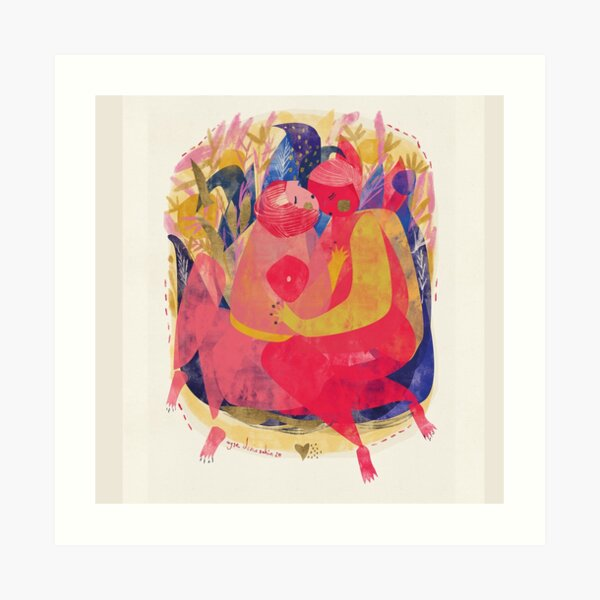 Hug Me 2 Art Print