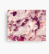 Pink Marble 01 Canvas Print