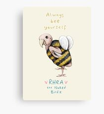 Rhea - Always Bee Yourself Canvas Print