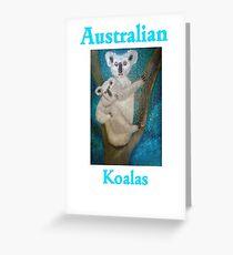 Australian Koalas (Card) Greeting Card