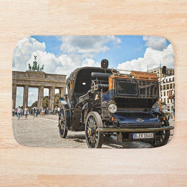 Vintage Car at Brandenburg Gate Photographic Print Bath Mat