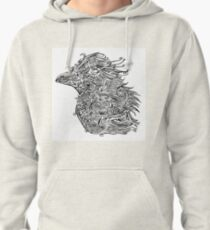 Birds - Tattoo Black and White Pullover Hoodie