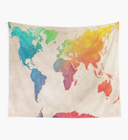 world map 21 Wall Tapestry