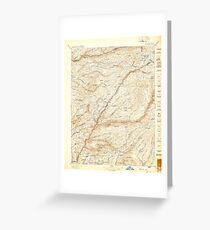 USGS TOPO Map California CA Big Trees 299216 1897 125000 geo Greeting Card