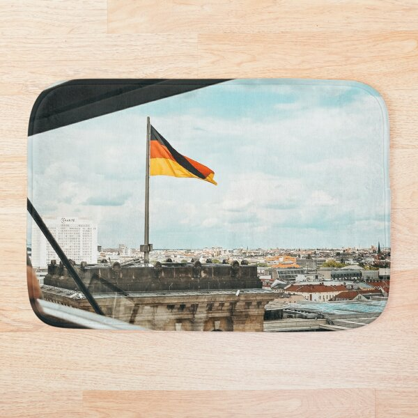 Berlin Skyline from the Reichstag Dome - Photographic Print Bath Mat