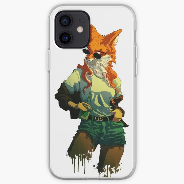 Fashion Fox Girl with Sunglasses iPhone Soft Case