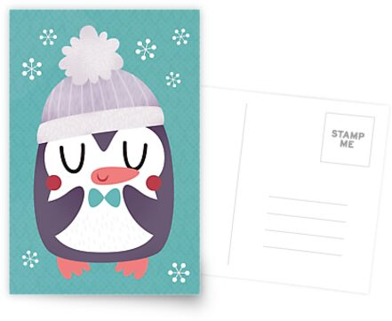 Cute Cozy Penguin by Claire Stamper