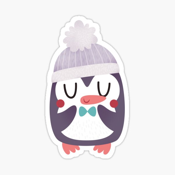 Cute Cozy Penguin Sticker