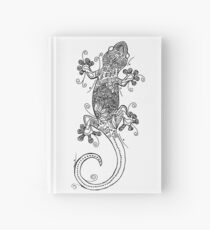 Gecko - Tattoo Black and White Hardcover Journal