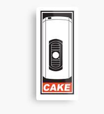 Cake is a Lie Metal Print