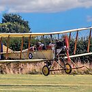 RAF BE.2c Replica 347 G-AWYI landing by Colin Smedley